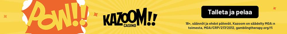 Kazoom uusi nettikasino ilman rekisteröitymistä