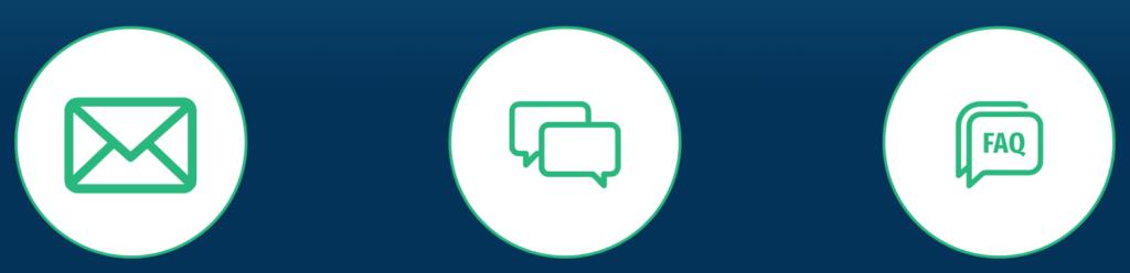turbonino asiakastuki on tavoitettavissa sähköpostitse ja live chatin kautta.