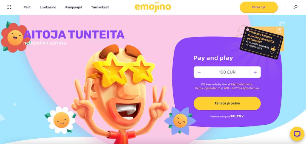emojino casino toimii trustlyn pay n playn avulla