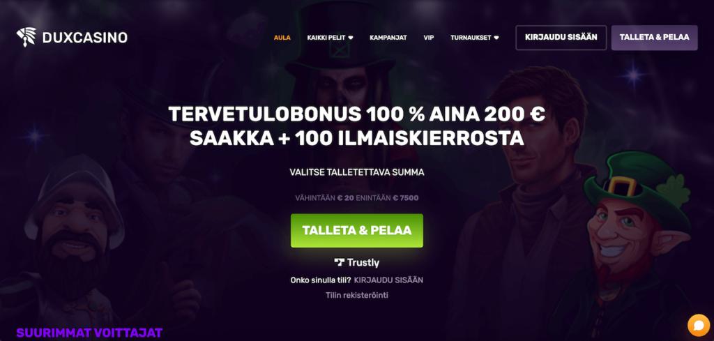 Dux casino bonus ja kokemuksia uudetnettikasinot365